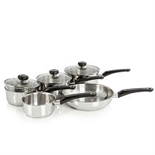 Morphy Richards 5 Piece Pour & Drain Stainless Steel Pan Set