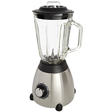 Daewoo SDA1088RD 5–Speed 1.5L Glass Jug Kitchen Blender – Silver/Black