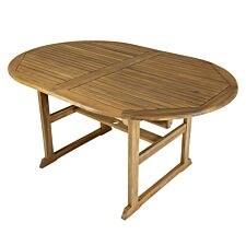 Charles Bentley Wooden FSC Acacia Oval Extendable Table