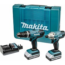 Makita G-Series 18V Li-Ion 2-Piece Combi Drill and Impact Driver Drill Set