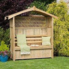 Zest4Leisure Hampshire Wooden Arbour With Storage Box