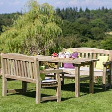 Zest4Leisure Wooden Emily Table and 2 Bench Set
