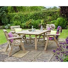 Zest4Leisure Wooden Abbey Square Table and 4 Chair Set