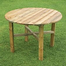Zest4Leisure Wooden Abbey Round Table