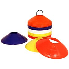 Charles Bentley Space Disc Training Markers Cones With Stand – Set Of 50