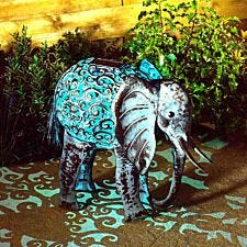 Smart Solar Metal Silhouette Elephant Light