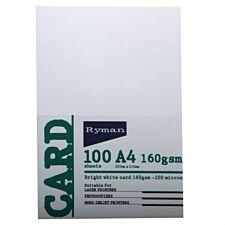 Ryman A4 White Card – 100 Pack