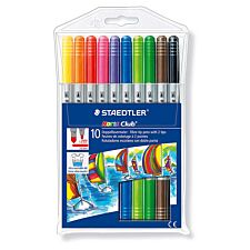 Staedtler Noris Pack of 10 Double-Ended Colour Pens