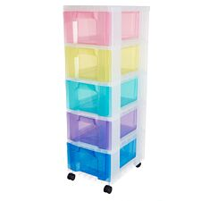 Really Useful 5x12L Rainbow Storage Drawer Tower