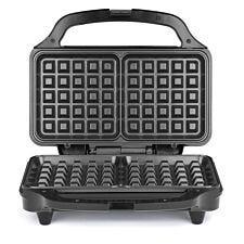 Salter 900W Deep Fill Waffle Maker - Black & Stainless Steel