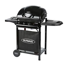Outback Omega 250 2-Burner Gas BBQ - Black