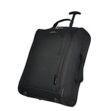 "5 Cities Lightweight 21"" Cabin Bag with Wheels - Black"
