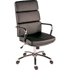 Teknik Deco Faux Leather Executive Office Chair - Black