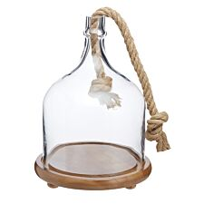 Artesa Wood and Glass Serving Cloche
