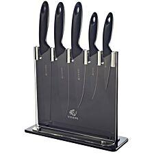 Viners Silhouette Six-Piece Knife Block Set - Black