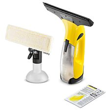 Kärcher WV2 Plus Cordless Window Vacuum Cleaner with Spray Bottle and Detergent