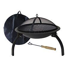 Gardeco Lucio Portable Fire Pit - Black
