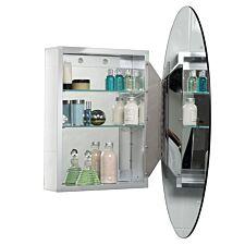 Croydex Orwell Single Door Oval Cabinet