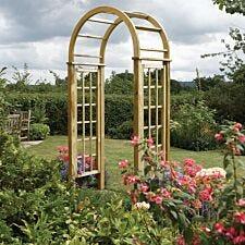 Rowlinson Round Top Wooden Garden Arch