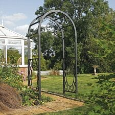 Rowlinson Wrenbury Round Top Metal Garden Arch