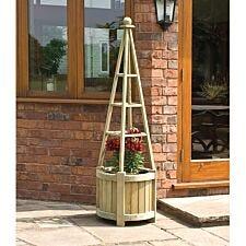 Rowlinson Marberry Obelisk Garden Planter