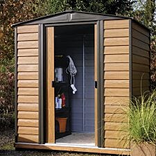 Rowlinson Woodvale 6ft x 5ft Metal Apex Garden Shed