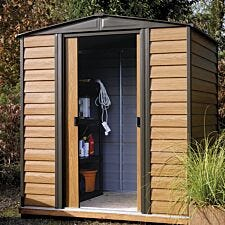 Rowlinson Woodvale 8ft x 6ft Metal Apex Garden Shed