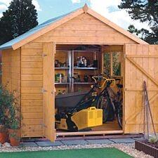 Rowlinson Premier Range 10ft x 8ft Wooden Apex Garden Shed