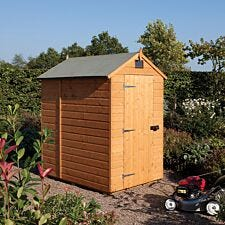 Rowlinson 4ft x 6ft Security Wooden Apex Garden Shed