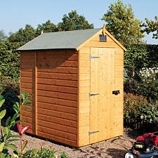 Rowlinson 5ft x 7ft Security Apex Wooden Garden Shed