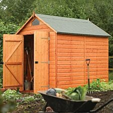 Rowlinson 6ft x 8ft Security Wooden Apex Garden Shed