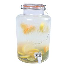 The Vintage Company 7.6L Airtight Glass Drinks Dispenser - Clear