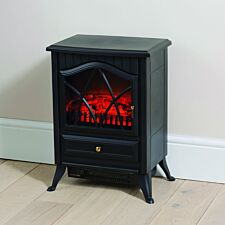 Daewoo 1850W Small Stove Effect Heater – Black