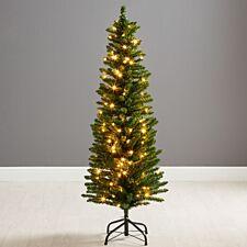 5ft Robert Dyas Duchess Pre-Lit Slim Christmas Tree