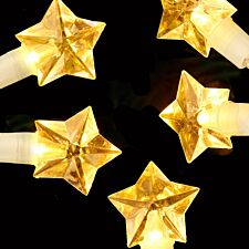 Robert Dyas Battery Operated 20 LED Star Lights - Warm White