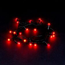 Robert Dyas Battery Operated 80 LED Berry Lights - Red