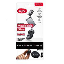 Sugru Single Use 3 Pack – Black