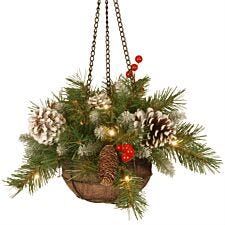 "14"" National Tree Company Frosted Berry Hanging Basket"