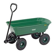 Draper 75L Garden Tipper Cart - Green