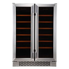 Russell Hobbs RHBI36DZWC2SS 36-Bottle Dual Zone Wine Cooler – Stainless Steel