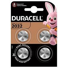 Duracell 2032 Lithium Coin Batteries – 4 Pack
