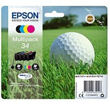 Epson 34 Original Black and Colour Ink Cartridges - 4 Pack