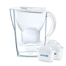 BRITA Marella Water Filter Jug 3 Month Starter Pack - 2.4L White