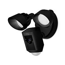 Ring Floodlight Cam Smart Security Camera with Siren Alarm - Black