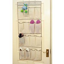 H & L Russel 16-Pocket Over-Door Organiser - Cream