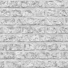 Arthouse Rustic Brick Wallpaper – Grey