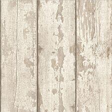 Arthouse Whitewashed Wood Wallpaper – White