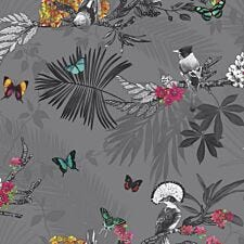 Arthouse Mystical Forest Wallpaper - Grey