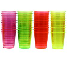 Essential Housewares Disposable Neon Shot Glasses - 40 Pack