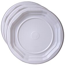 Essential Housewares Disposable Plastic Plates - 25 Pack